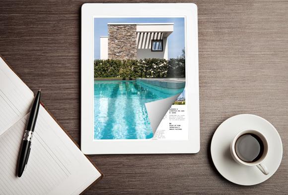Flip a PDF sul tablet con un effetto di capovolgimento di pagina