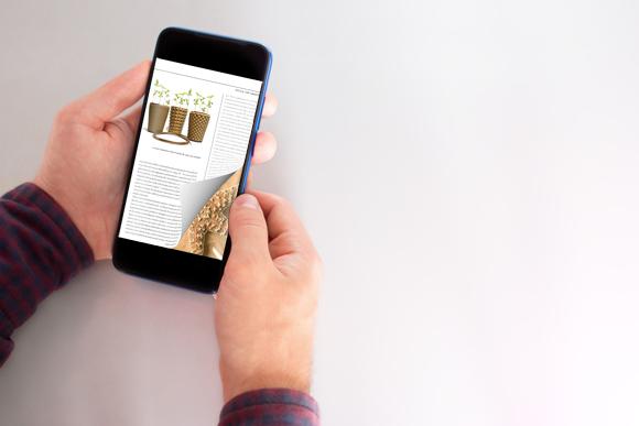 PDF Flip Book free sul smartphone con un effetto di capovolgimento di pagina